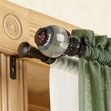 Beam Double Curtain Rod Set 28 To 170 Double Curtain Rod Set