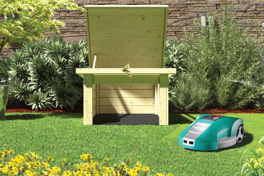 woodfeeling garage f r m hroboter pultdach flachdach. Black Bedroom Furniture Sets. Home Design Ideas