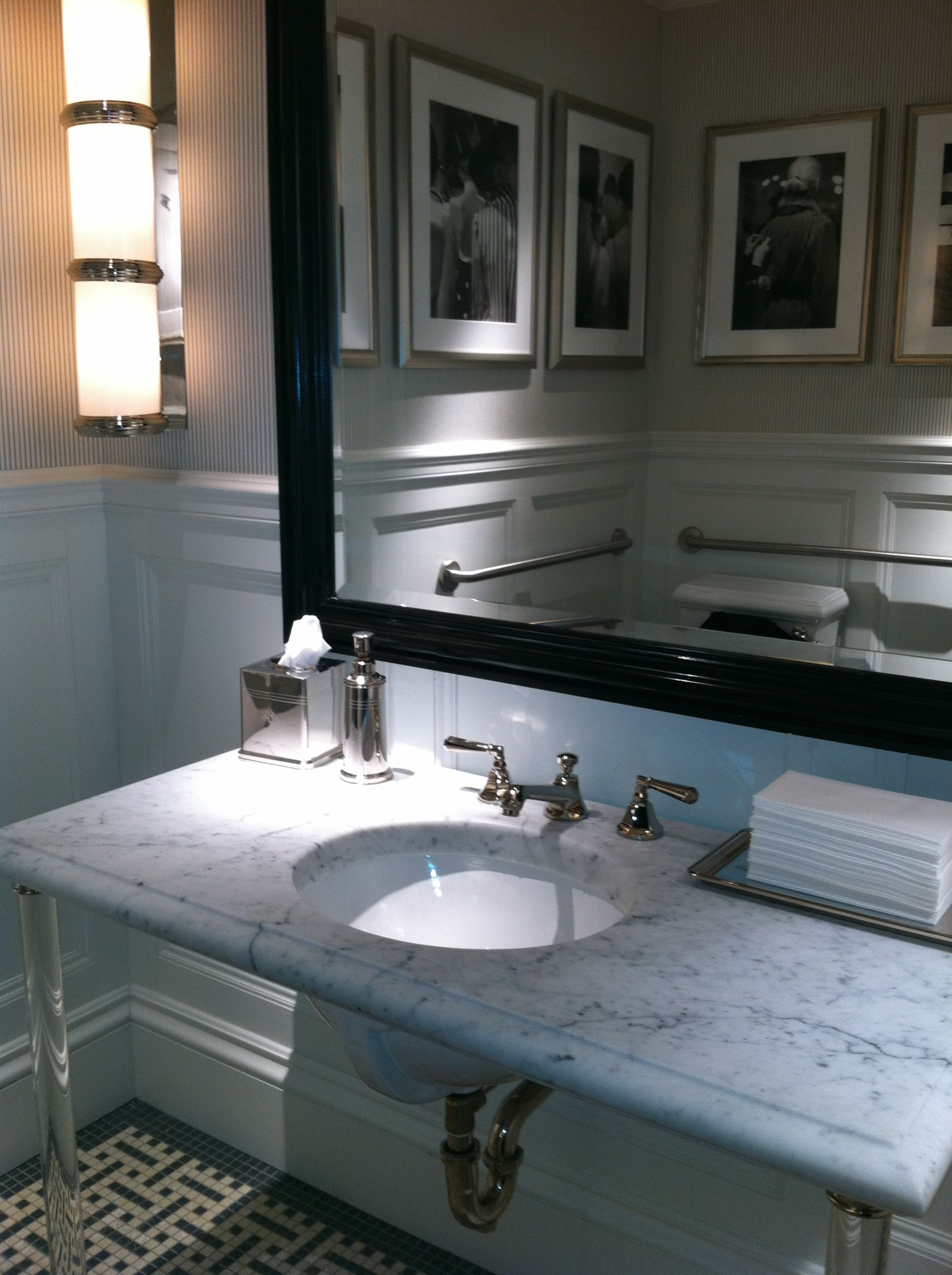 Merveilleux The Ladies Room In The New Ralph Lauren Womenu0027s Store On Madison Avenue And  79th Street Is Signature RL. The Use Of A Cararra Marble Counter Top On ...