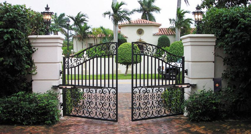 Driveway gate extend home security to property boundaries  Adding gates to  driveway entrances has become. Driveway gate extend home security to property boundaries  Adding