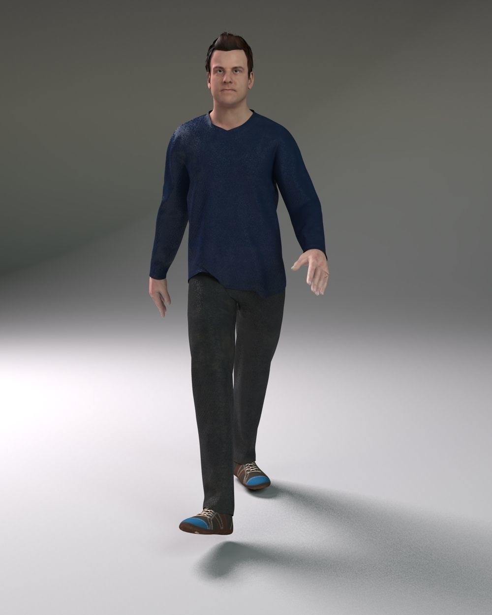3d Models For Animation Casual Male 3d Model Rigged Animated Fbx Ma Mb 9 3d Models In