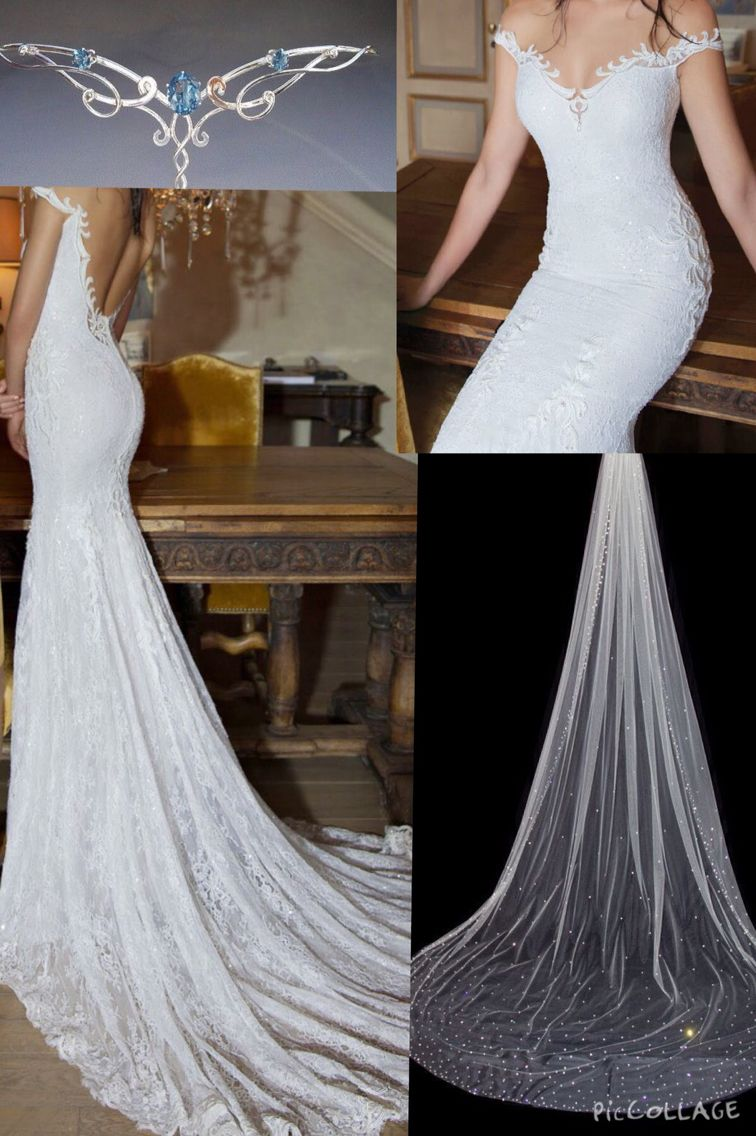 Beautiful yet sexy wedding dress for an elvish wedding one day