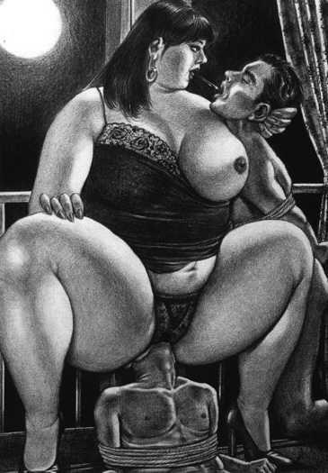 толстая госпожа со своим рабом