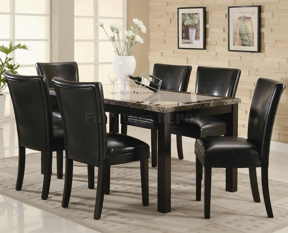 Black Dining Set for Elegant House Furnishing - http://www.hometa.info/black-dining-set-for-elegant-house-furnishing.html