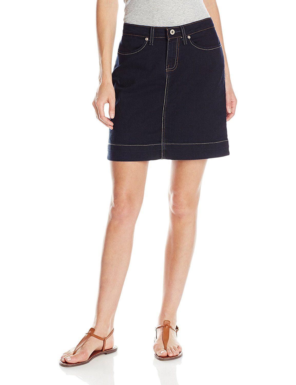 773f29826 Dickies Women's 20 Inch Denim Skirt, Dark Stone Wash, 4 at Amazon Women's  Clothing store: