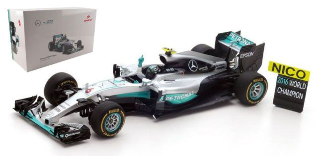 25b0e33c20fe3 Scale Model  Mercedes Petronas F1 W07 Hybrid 6 Nico Rosberg Formula ...
