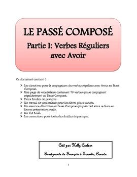 Passe Compose Partie I: Verbes Reguliers avec Avoir in 2020