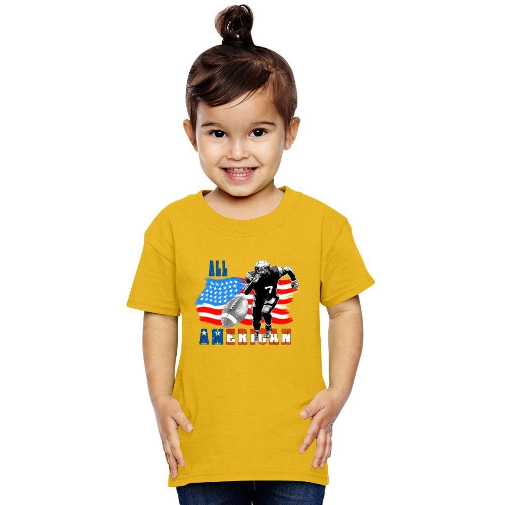 All American Football Player 5 With Ball Toddler T-shirt