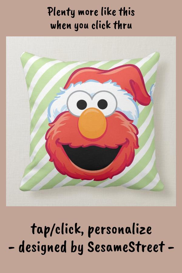 Merry Christmas Elmo Throw Pillow Zazzle Com Throw Pillows Pillows Custom Pillows