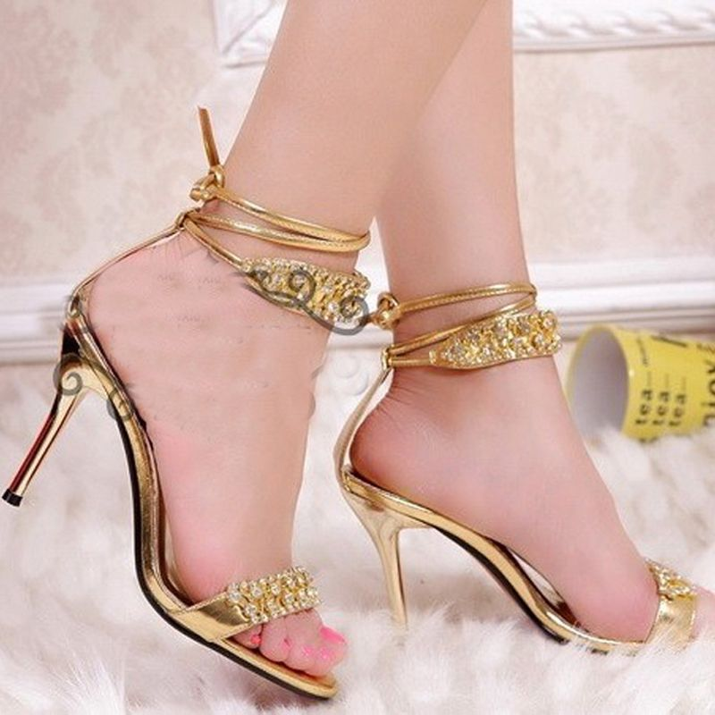 Y Silver High Heel Summer Shoes Fashion Lady