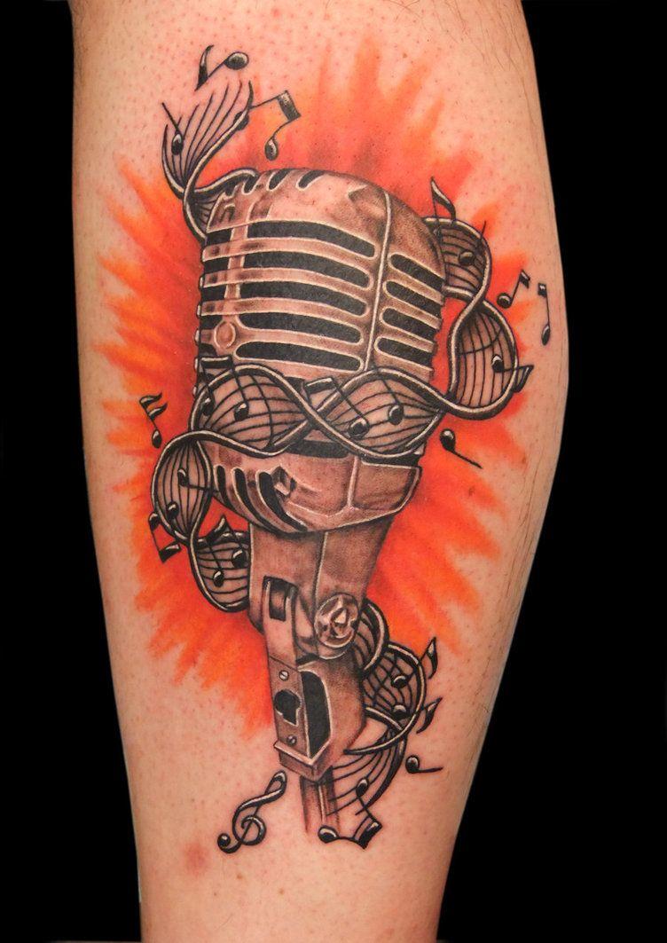 Cute tattoo ideas for lower back microphone music sheetmusic tattoo  tattoos  pinterest  music