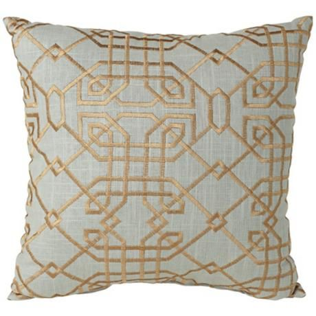 Metropolitan Aqua 18 Square Designer Throw Pillow Kim Master Bedroom