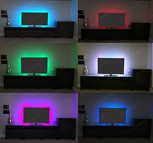 Dabhees multi colour rgb 50cm 197in usb led strip light led tv dabhees multi colour rgb 50cm 197in usb led strip light led tv background lighting aloadofball Choice Image