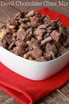 Devil Chocolate Chex Mix