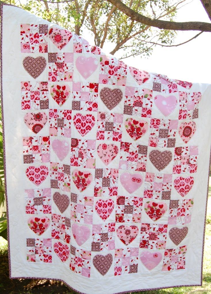 Fairy Hearts Quilt Pattern At Kate Conklin Designs Nine Patch And Gorgeous Heart Quilt Pattern