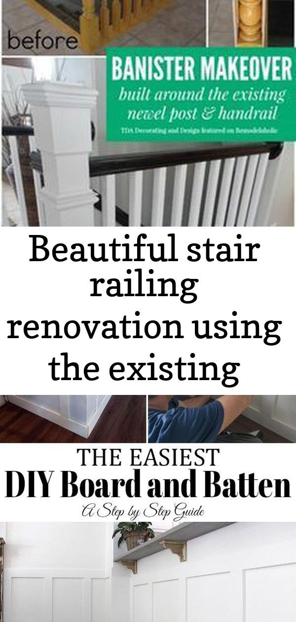 Best Beautiful Stair Railing Renovation Using The Existing 400 x 300