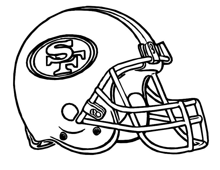 Football Helmet San Francisco 49ers Coloring Pages Football