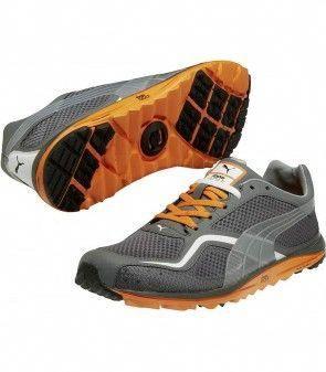 Puma Faas Lite Mesh Golf Shoe Grey Orange  mensgolfclothes  9d74a0172