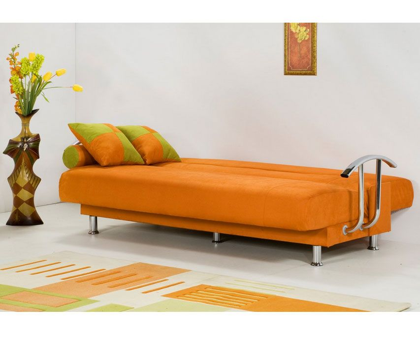 Strange Orange Serpentine Sofa With Metal Legs Sofa Bed Design Download Free Architecture Designs Terchretrmadebymaigaardcom