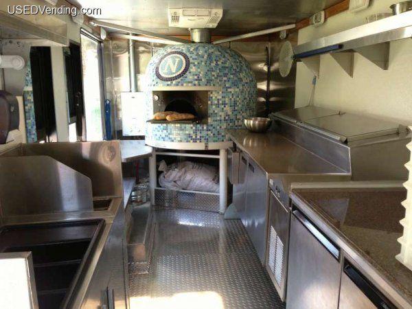 Inside Pizza Van
