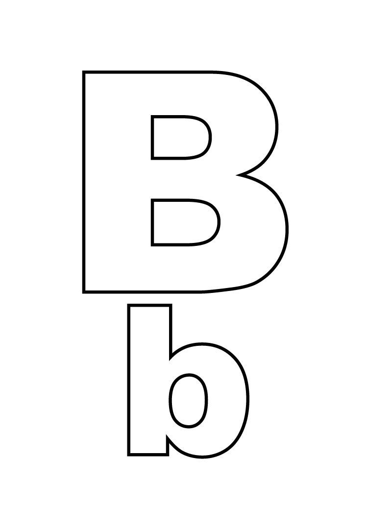 Free Printable Coloring Pages Letter B Designs Trend