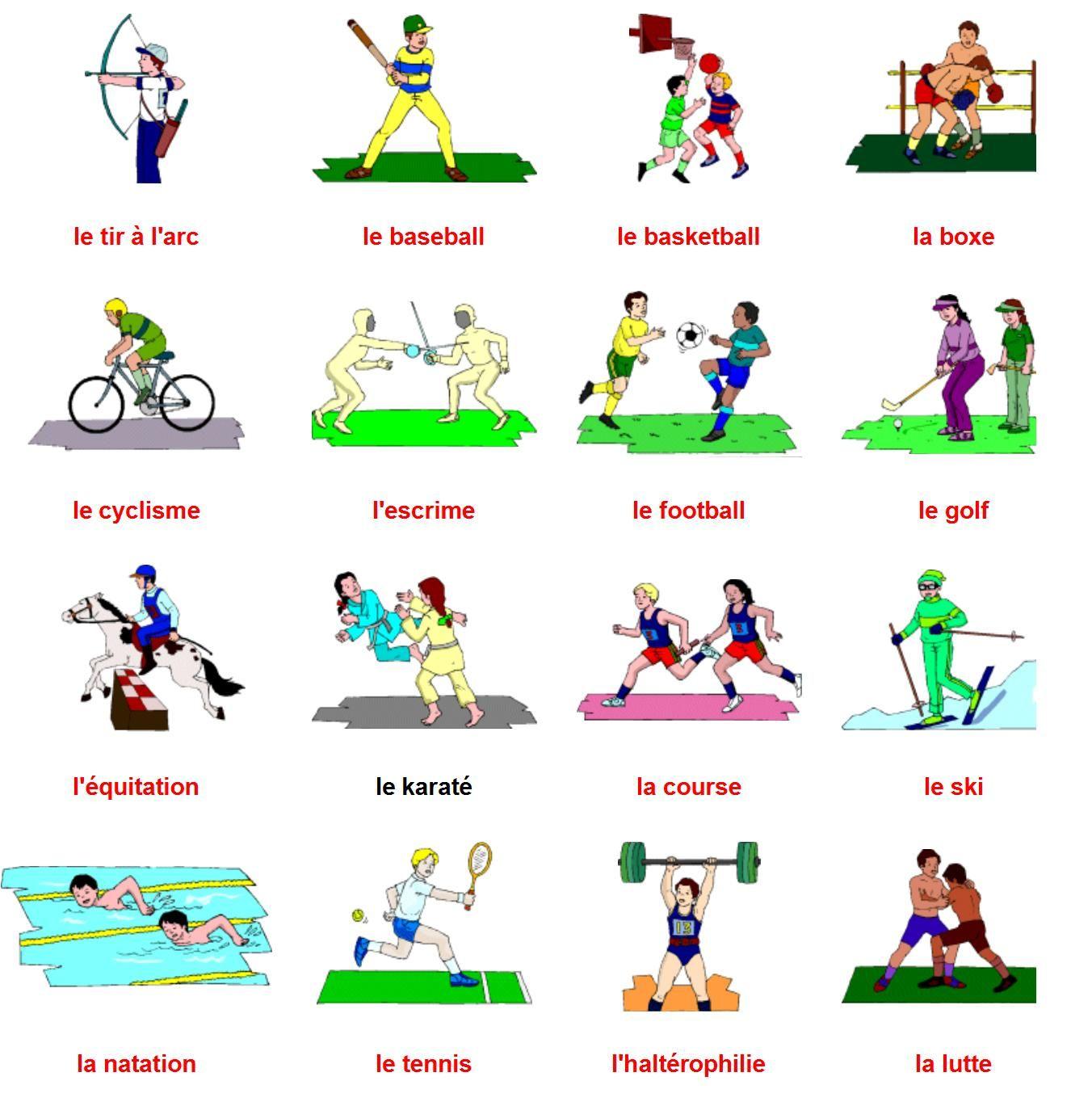 Resultado De Imagem Para Les Sports En Francais