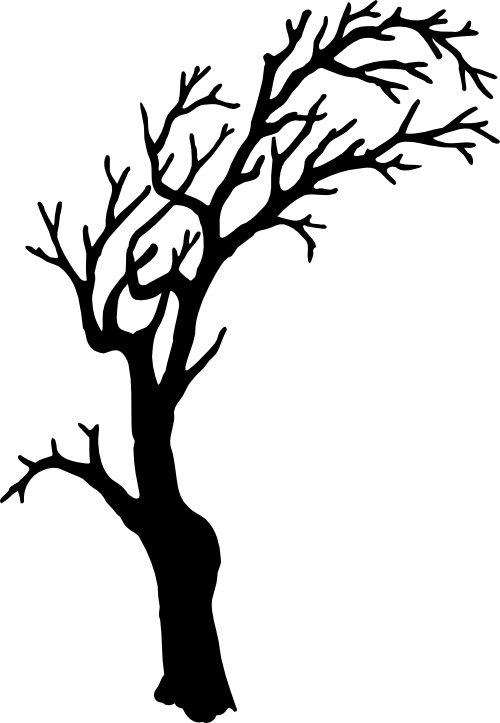 tree silhouette svg file pinterest tree silhouette svg file and rh pinterest com Spooky Owl Clip Art Scary Forest Clip Art