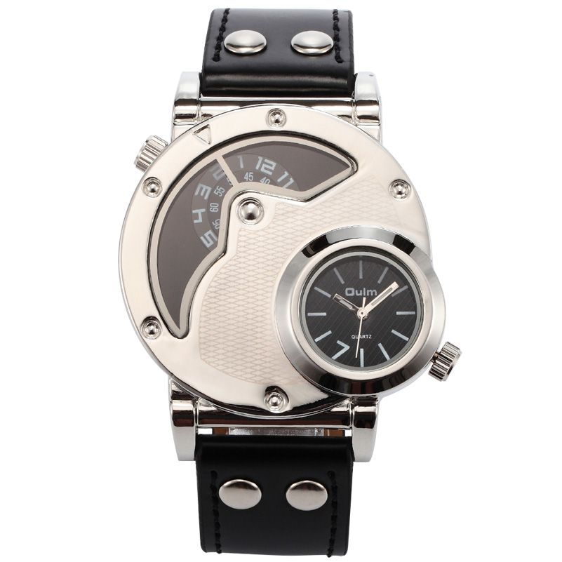 533e870f683 Click to Buy    hot Army men sports big round dial 2 time zone ...