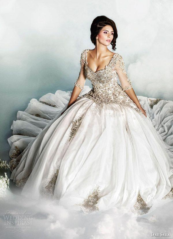 dar sara wedding dress 2014 bridal gown by dubai designer joumana al ...