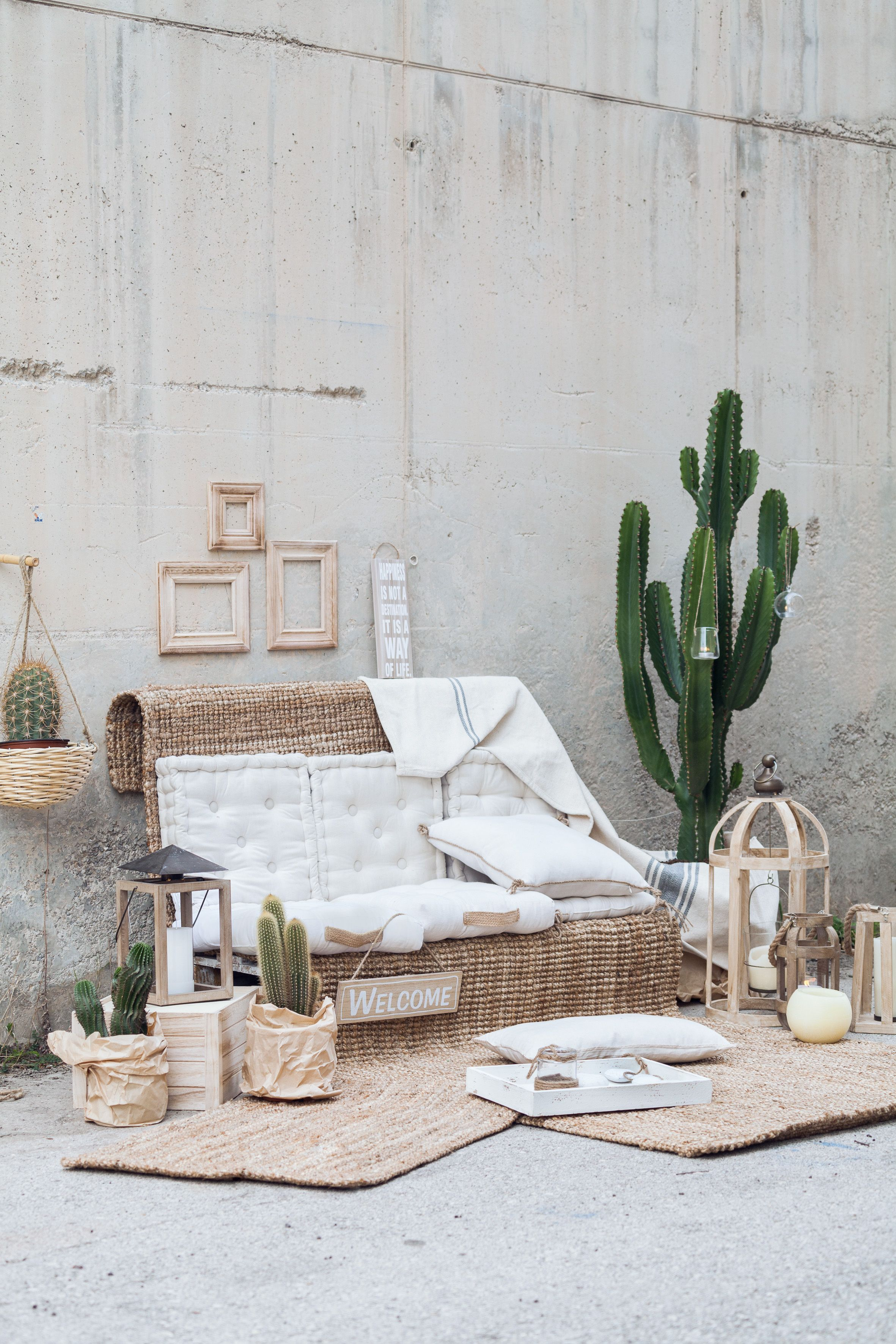 Detalles naturales para decorar interiores o exteriores - Alfombras de bambu ...