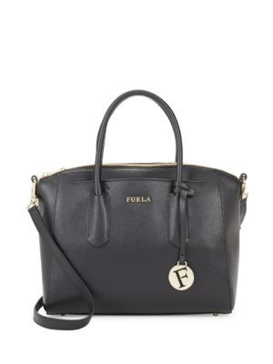 Pin M Satchel Bag in Onyx Calfskin Furla Under 70 Dollars In China Cheap Price Top Quality Sale Online OhABeeh