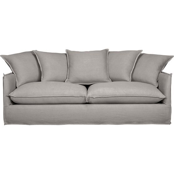 Oasis Sofa In Gray | Crate And Barrel