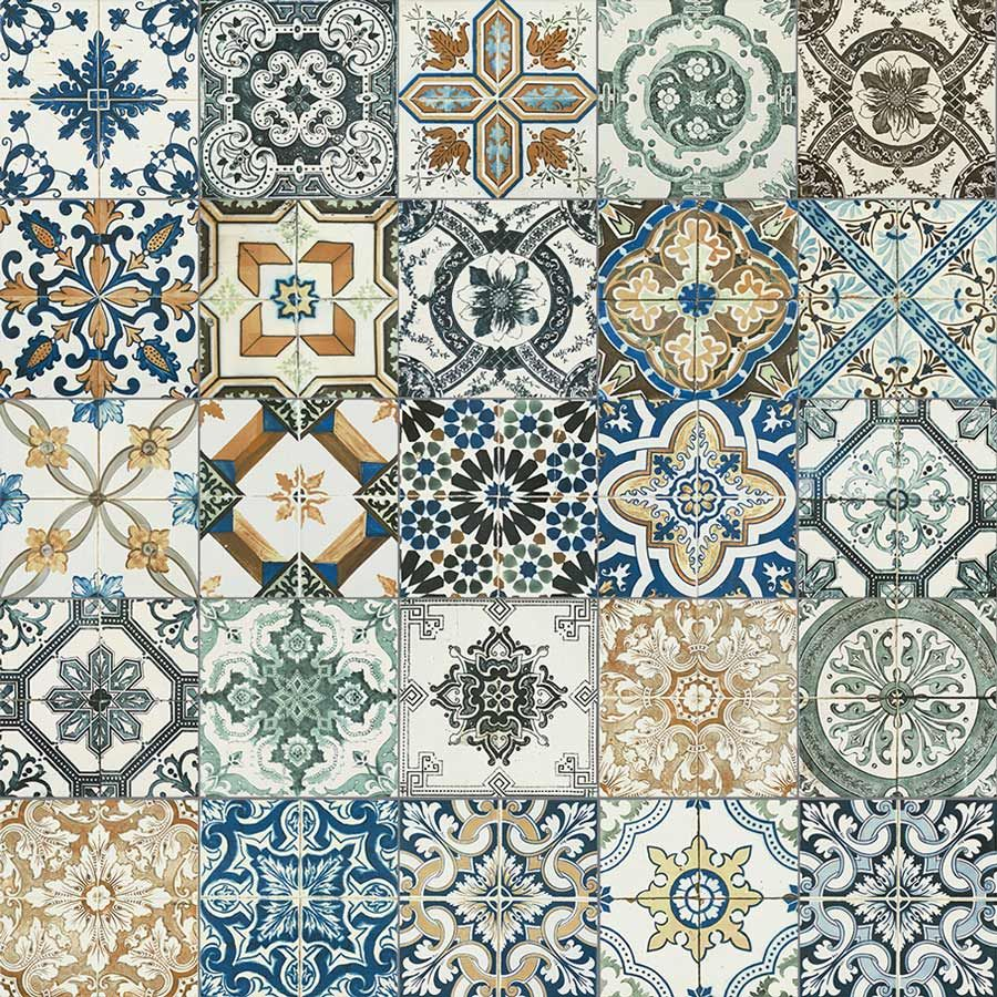 20x20cm Nikea Mix Pattern Tile Set Laundry Kitchens And