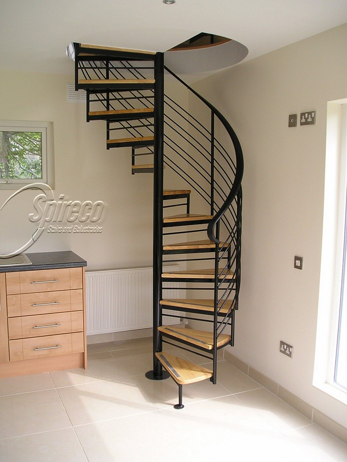 25 Wonderful Spiral Staircase Design Ideas For Your 2Nd Floor   Stairs To Second Floor Design   Bathroom Next   Space Saving   Square Shaped   Kitchen   Stairway