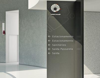 Sinalização Centro de Convenções UNICAMP