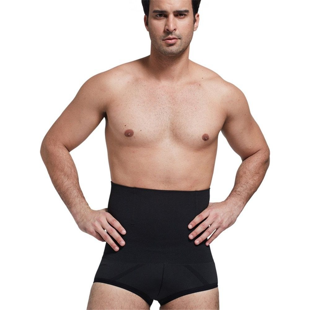 Bamboo Charcoal - Men's Double Compression Abdomen - Bosom & Waist & Hip-Shaped Body Shaper Sets - U...