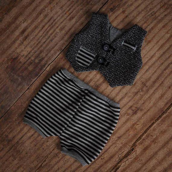 Newborn Boy Outfit Newborn Photo Props Suit Pants Suit