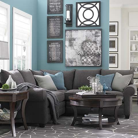 Alex Lshaped Sectional  Comfy Shapes And Modern Fascinating Turquoise Living Room Design Inspiration