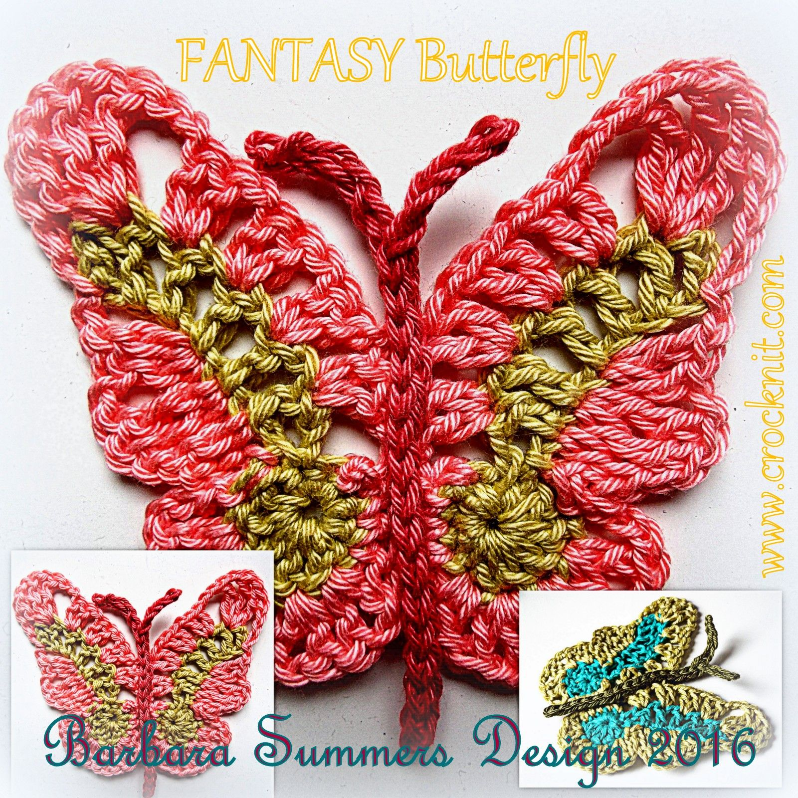 FANTASTY Butterfly Crochet Pattern