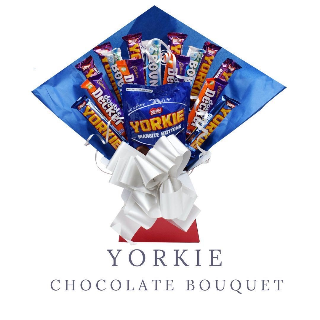 Yorkie Chocolate Bouquet Fathers Day Gift Gifts For Him Gift