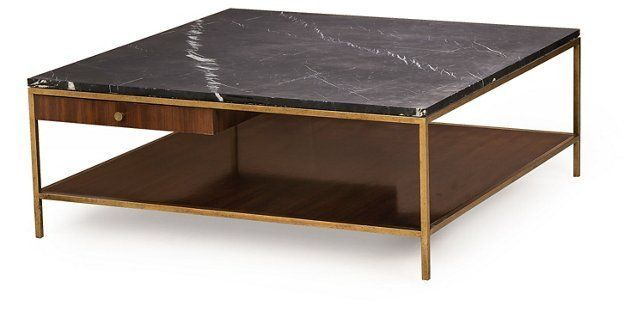Copeland Square Coffee Table Walnut Couchtisch Quadratisch Couchtisch Marmor Couchtisch Nussbaum