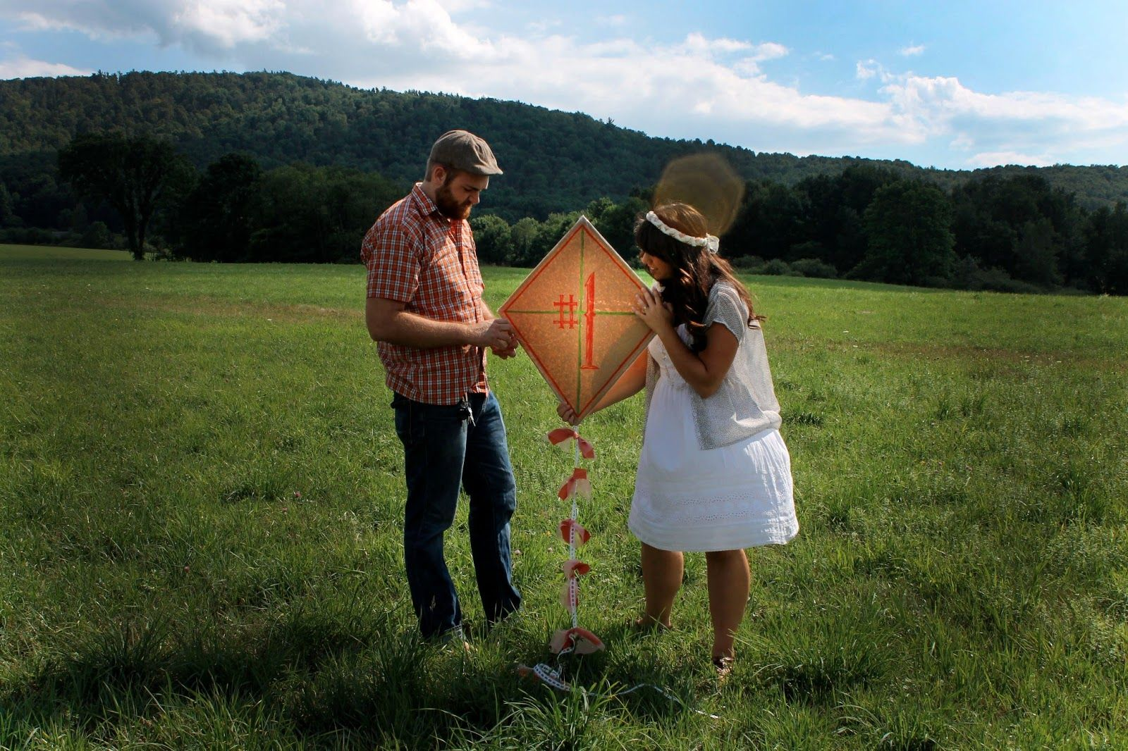 1st Year Anniversary Shoot! Do something together that involves paper which is the traditional gift for 1 year anniversary.. We made a paper kite and tried flying it together! Be Still, Life Blog: Photo Cred to @Lee Pfeil