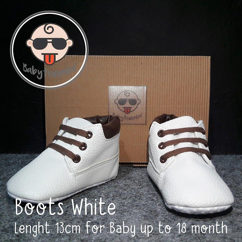 Sepatu Bayi Prewalker Boots White Sepatu Bayi Baru Lahir