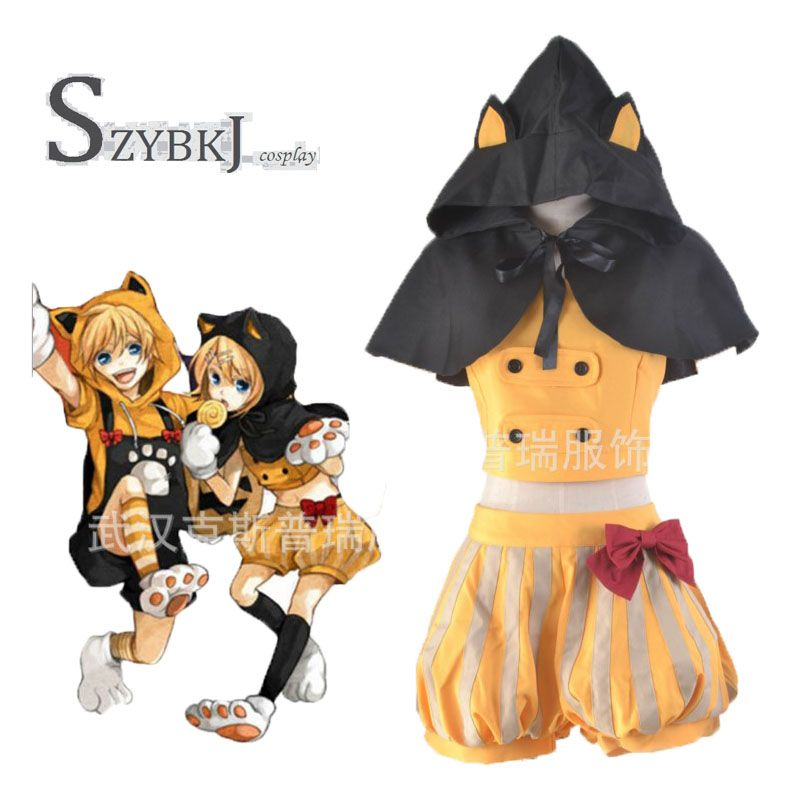 >> Click to Buy << New Customized Anime Kagamine Rin Vocaloid Black Cat Cosplay Costume Unisex Full Set Free Shipping  #Affiliate