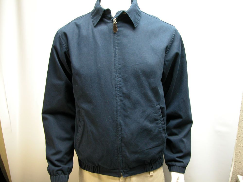 NWT Roundtree & Yorke  Men's Outdoor Lined Jacket Navy Blue  Size Small  #RoundtreeYorke #FlightBomber