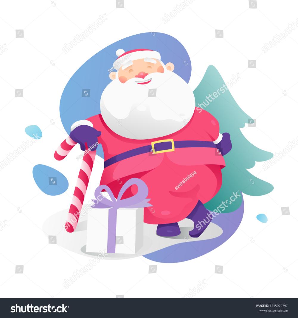 Santa Claus Christmas Candy Cane Vector Stock Vector
