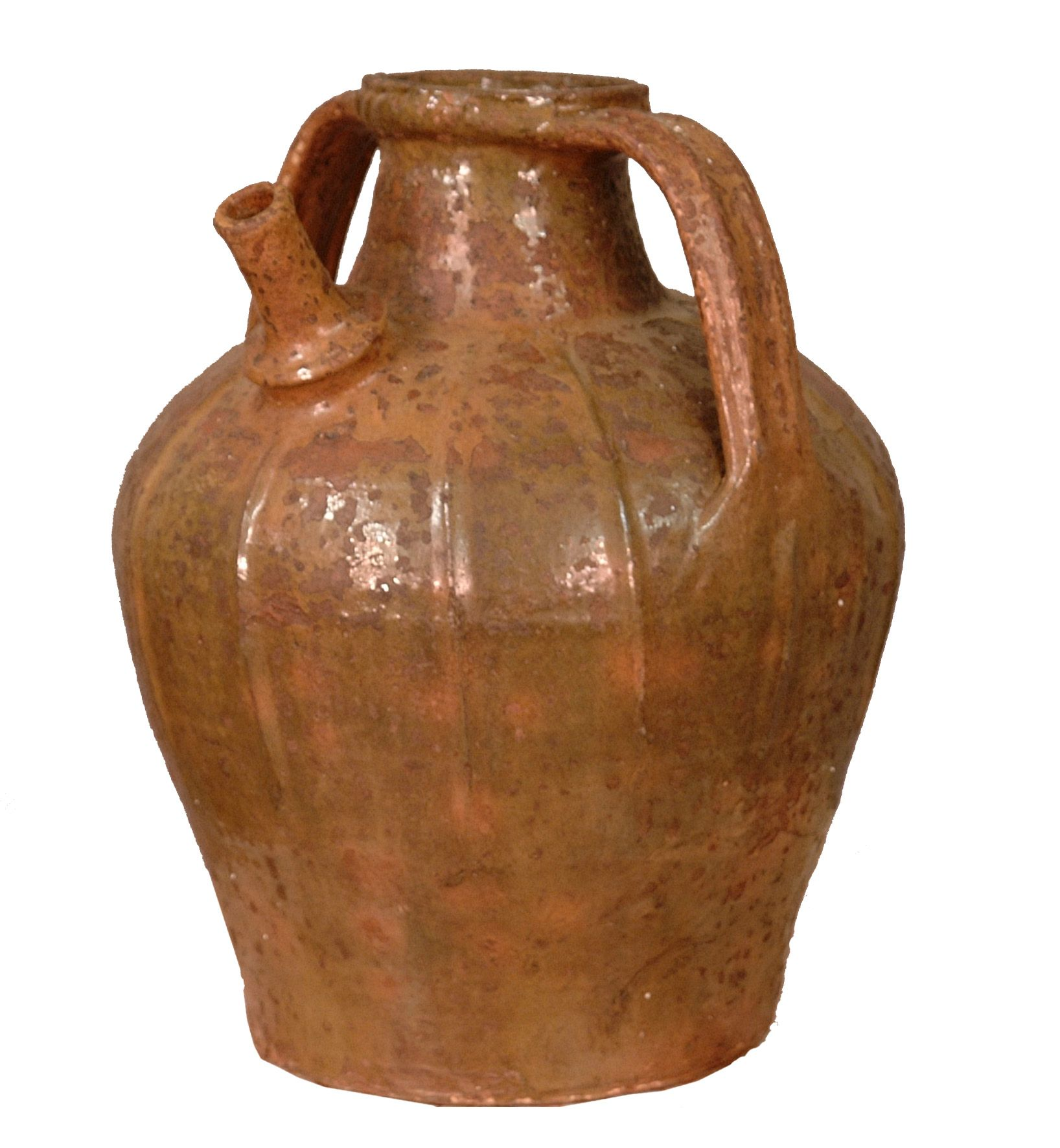 French Pottery Cruche Deau (Water Jug) Auvergne, France Circa
