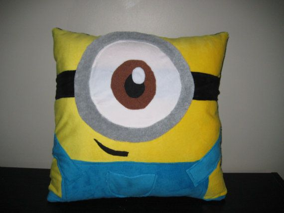 Despicable Me Minion Pillow by Lestette on Etsy, $35.00