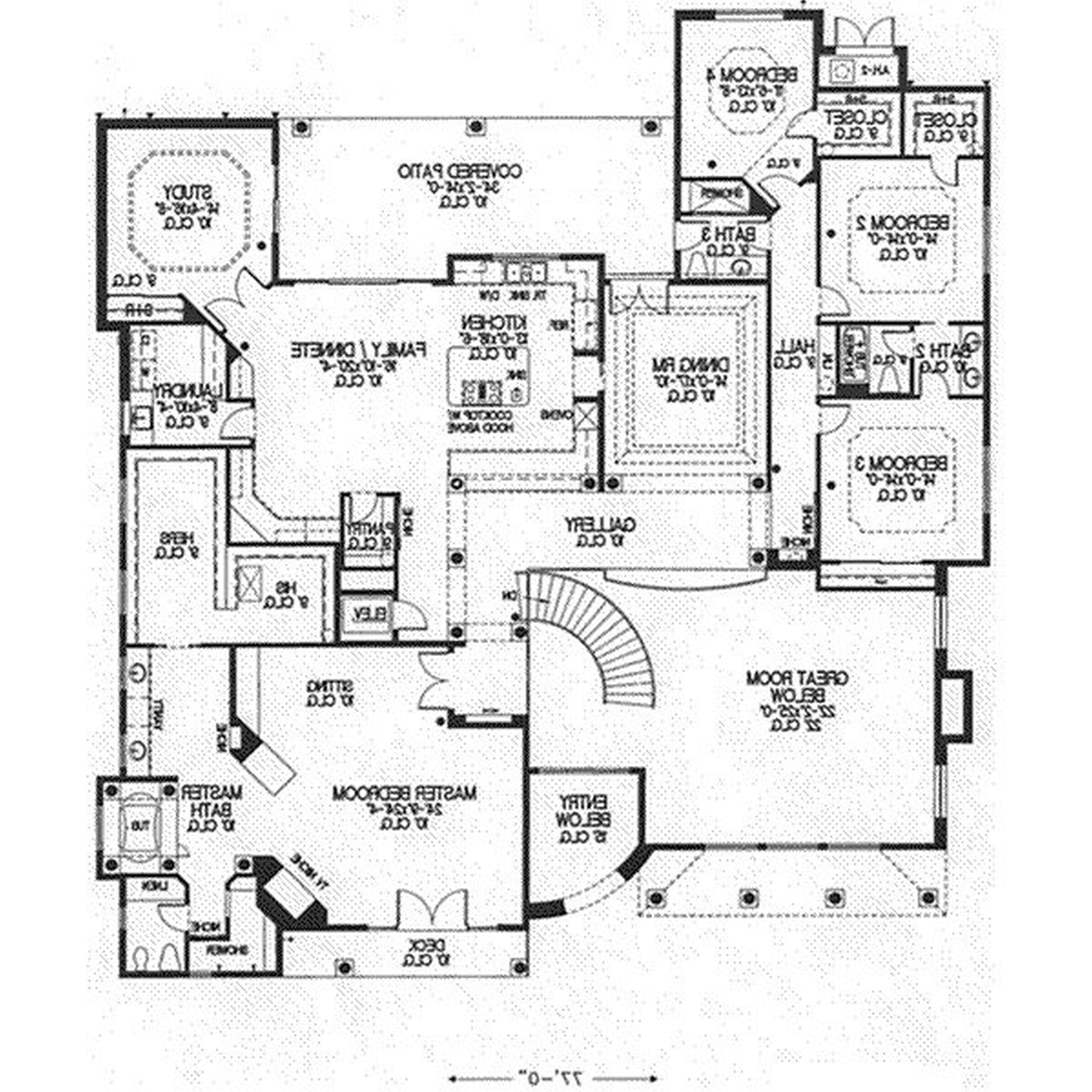 ... House Plans Black White