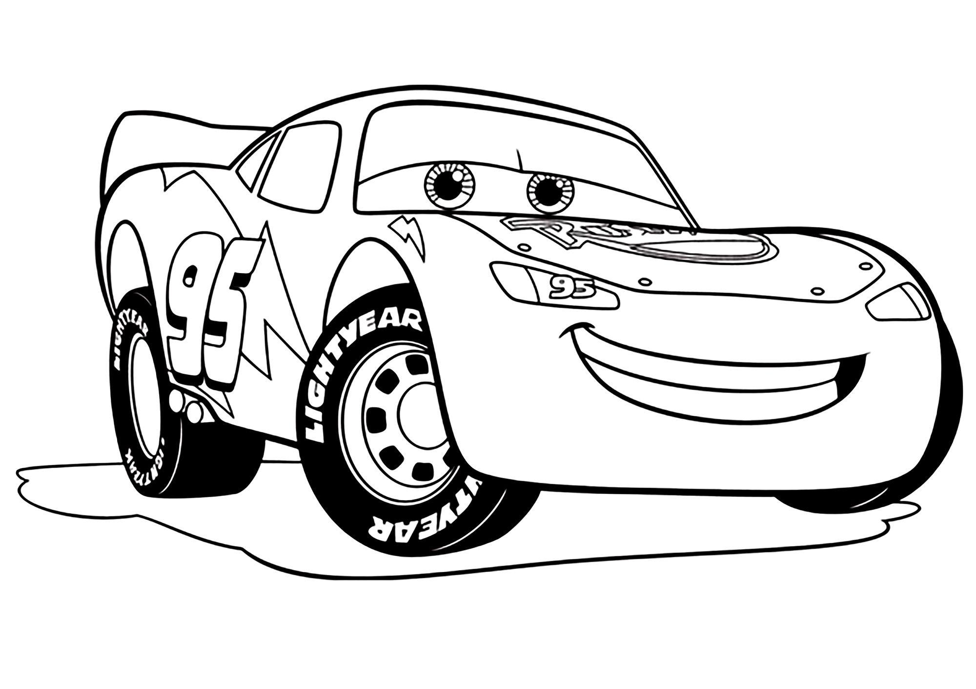 Cars 5 Flash Mc Queen  Coloriage Cars 5 - Coloriages Pour Enfants
